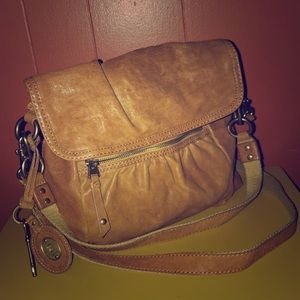 Fossil Long Live Vintage Tan Leather Crossbody Bag